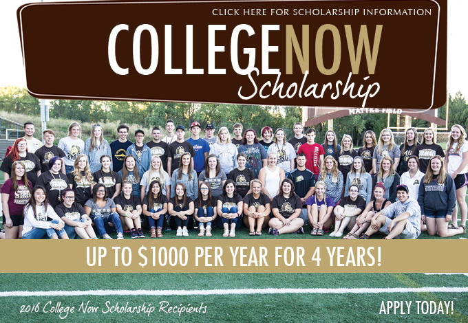 College Now Scholarship Information - Click here for scholarship information - apply today!