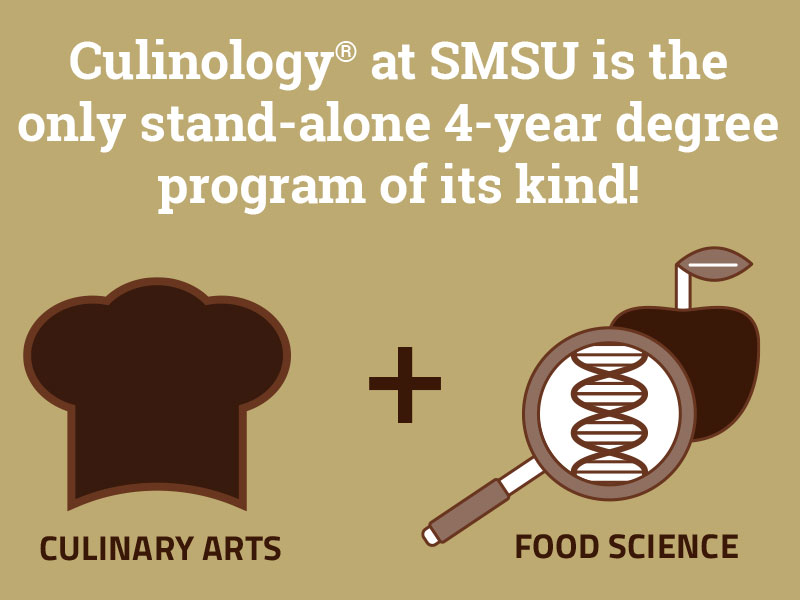 Culinology at SMSU is the only stand-alone 4-year degree program of its kind! - Culinary Arts Plus Food Science