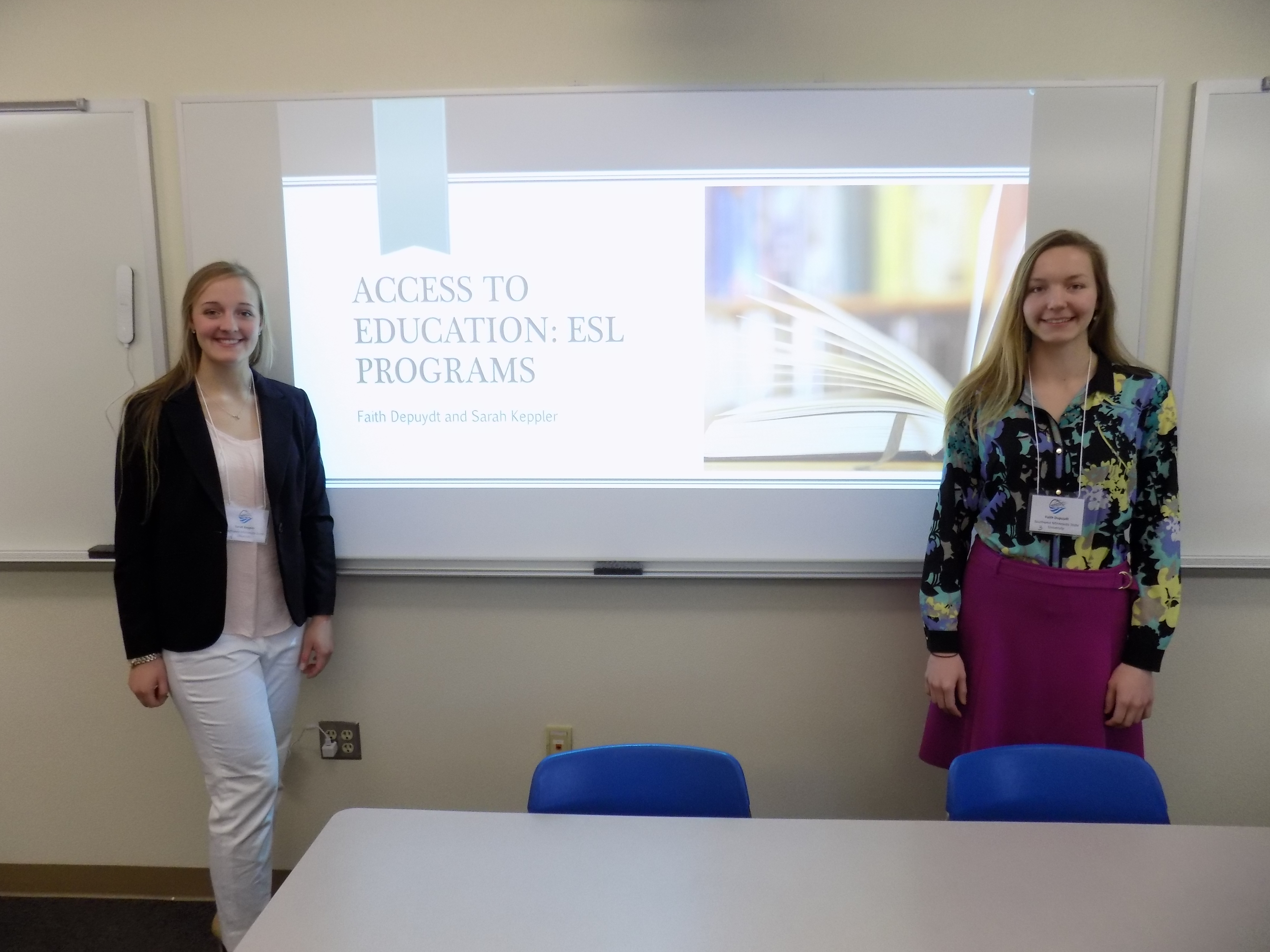 Sarah Keppler and Faith Depuydt gave a presentation