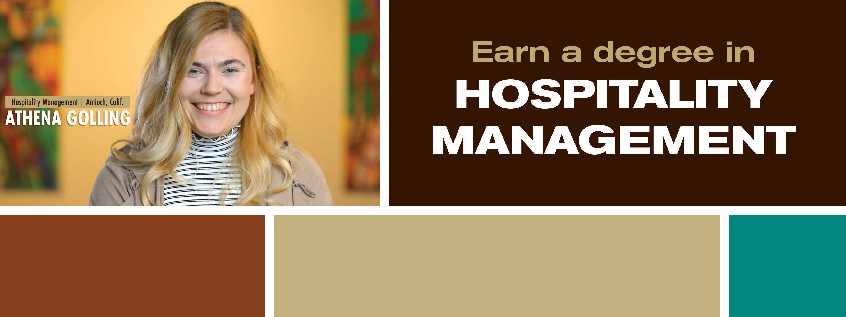 Earn A Degree In Hospitality Management - Discover. Engage. Lead.