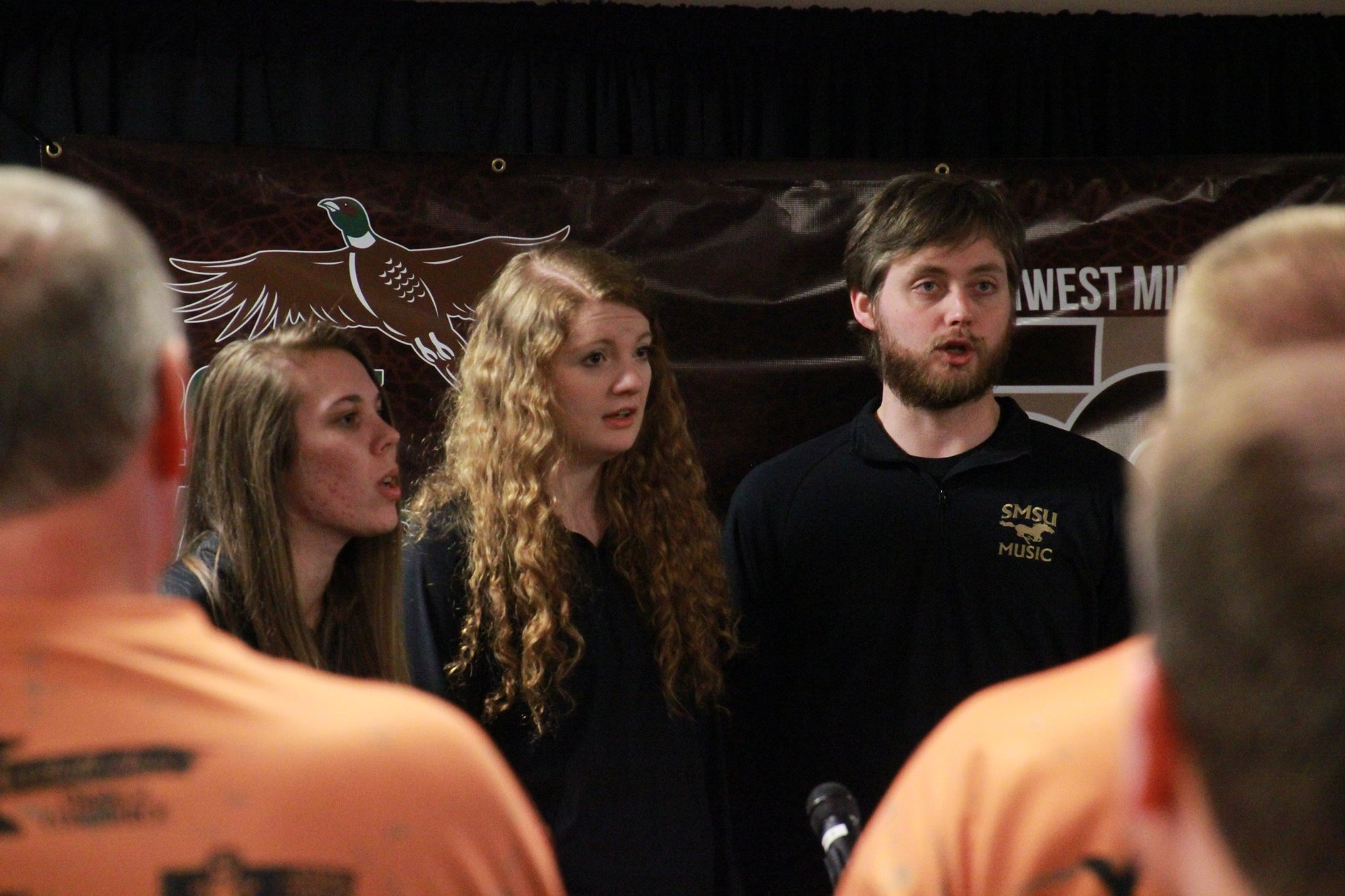 SMSU vocalists sing for the Governor's Pheasant Opener
