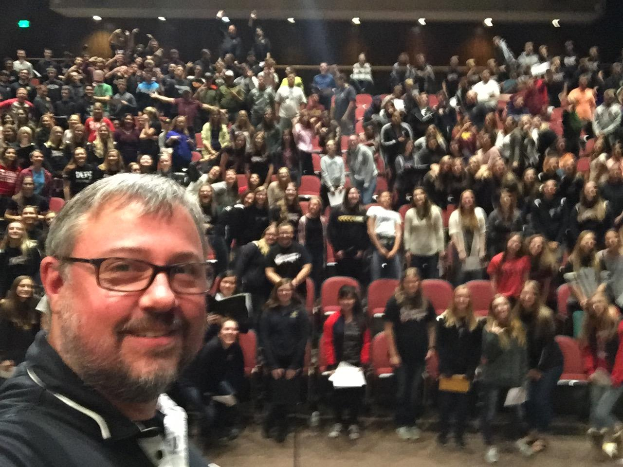 Dr. Kingsbury's selfie with Singfest participants