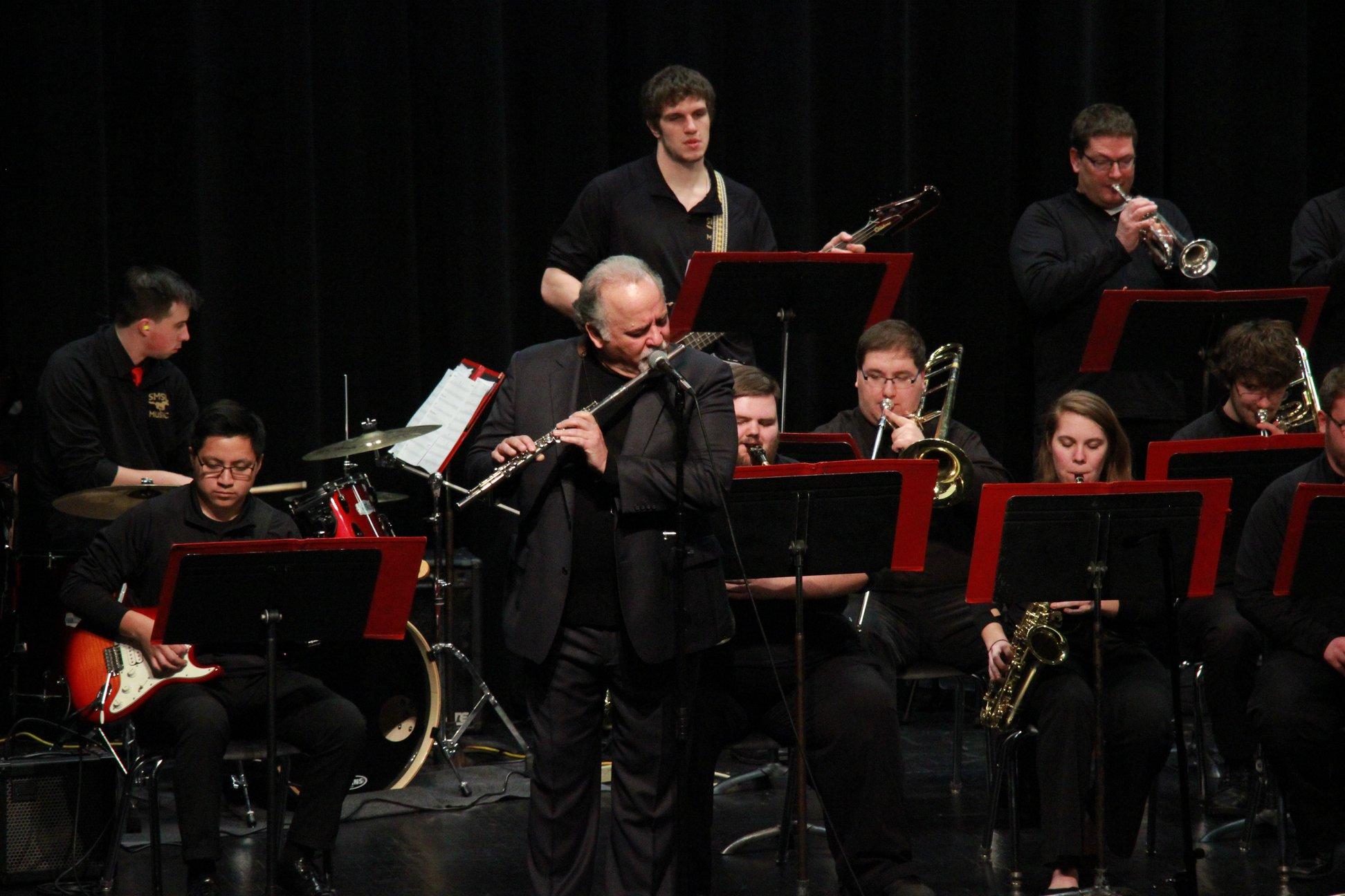 DiBlasio performing with SMSU Jazz Ensemble