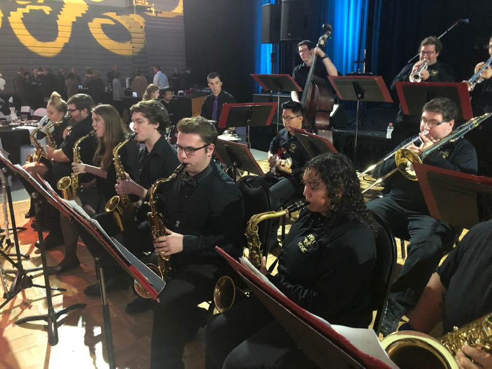 jazz ensemble performing at the University Gala