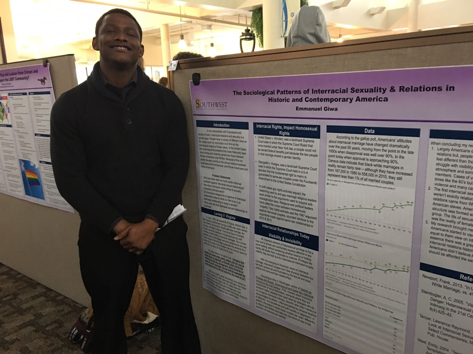 Sociology student poster at the URC