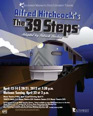 "Poster of Alfred Hitchcock's ""The 39 Steps"""