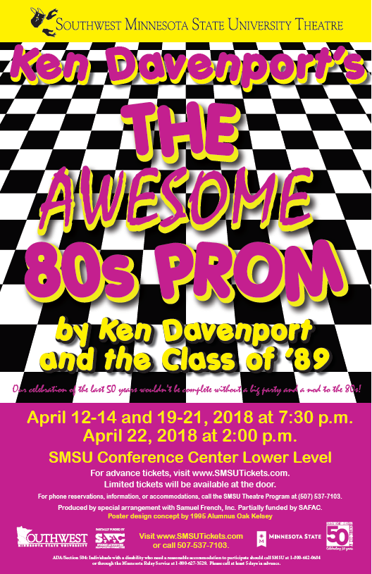 Awesome 80's Prom poster