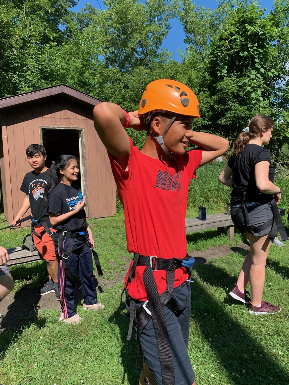 Rock Climbing Ready at Prairie Woods Environmental Learning Center