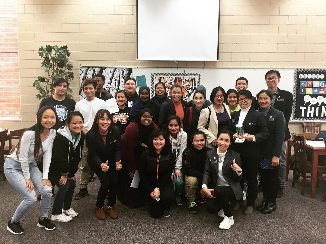 Ph.D. Students from Thailand Visit UB Students