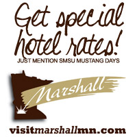 For special hotel rates mention SMSU Mustang Days