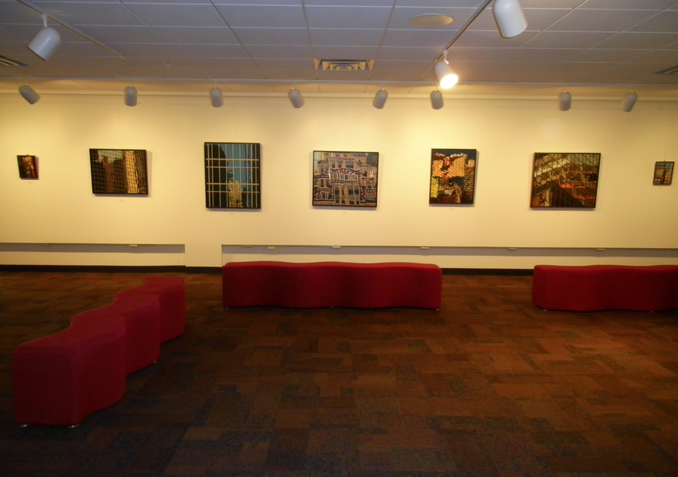 View of the William Whipple Gallery during exhibit