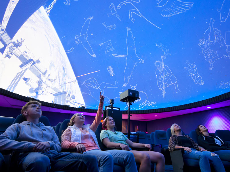 Photo of a planetarium show