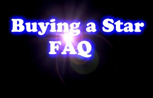 Buying a star FAQ