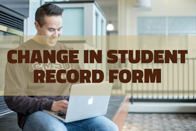 Change in student record form