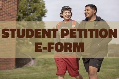 Student petition e-form