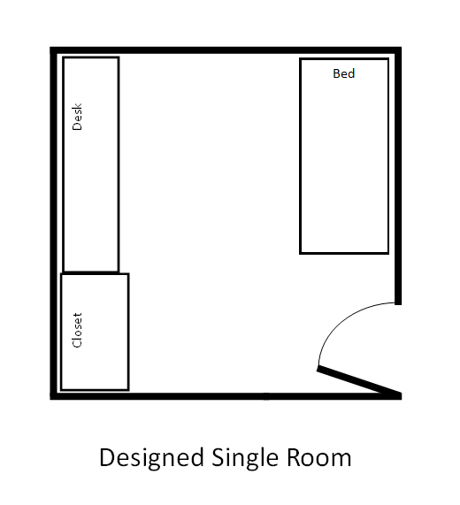 Designed Single - dimensions are approx. 11.5' x 11.4'