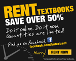 Click here for information on textbook rentals!