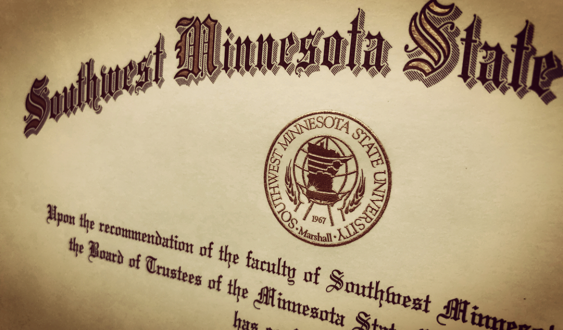 Diploma close-up image