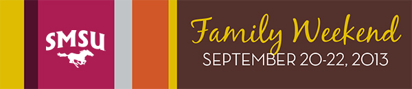 Family Weekend September 20-22, 2013 Graphic