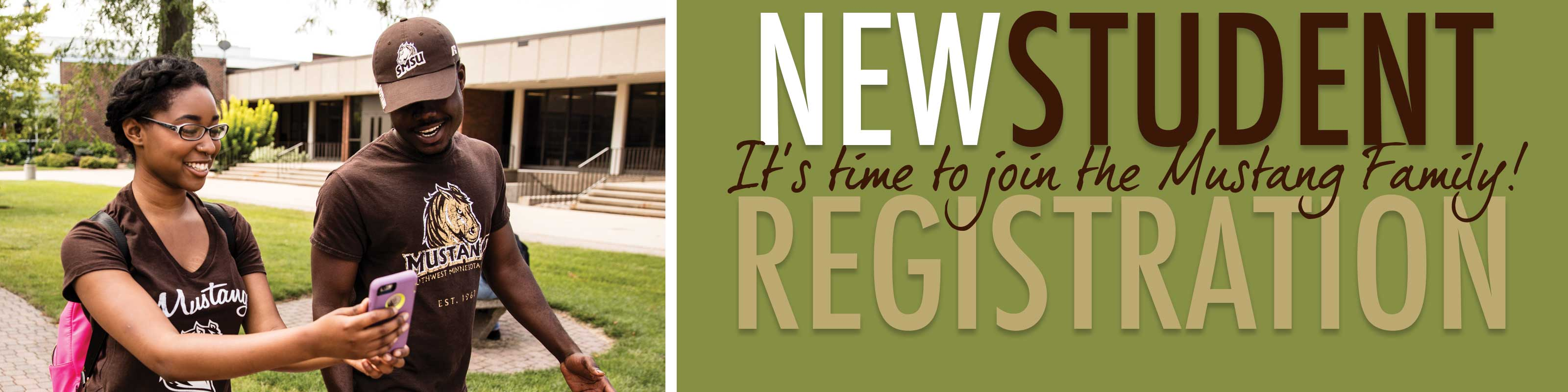 New Student Registration - It's time to join the Mustang Family!