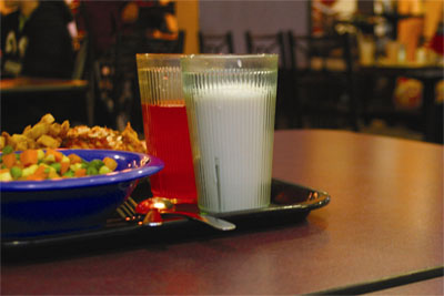 Residential Dining tray with food and beverage