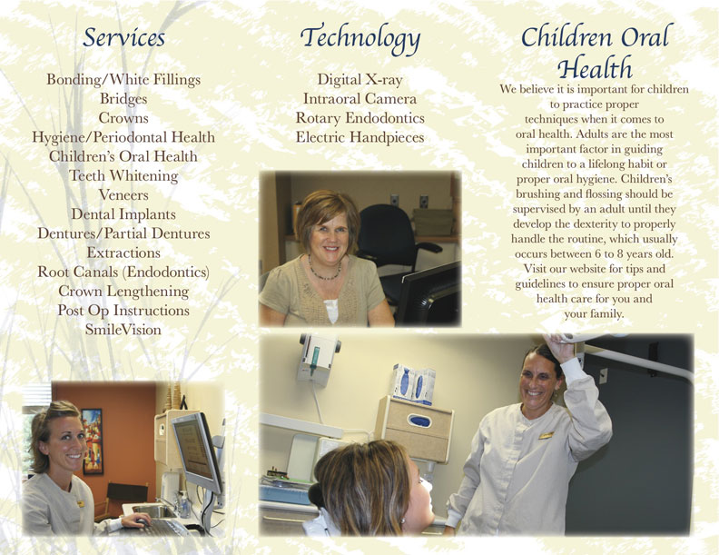 Johnson Family Dental Care Brochure Outside