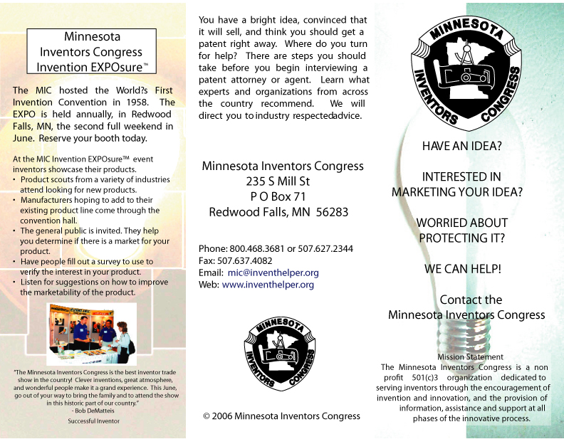 Minnesota Inventors Congress Brochure Outside