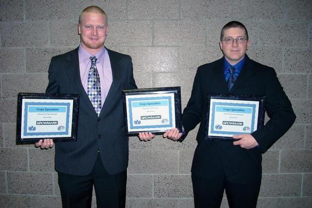 Ben Nath and Anthony Hansen, holding their NPAS awards.