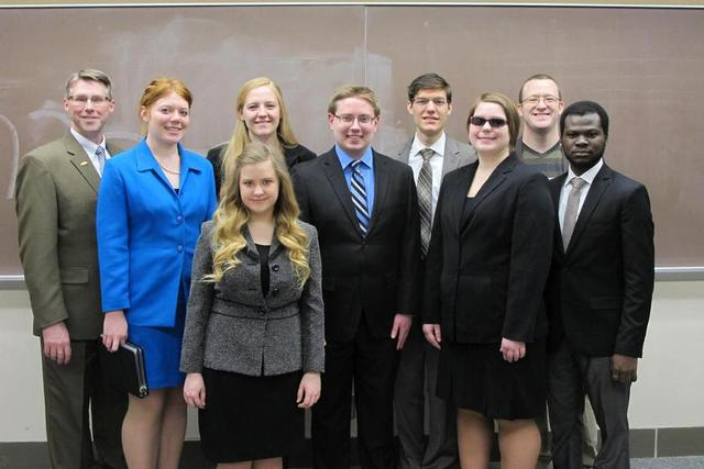 The state championship SMSU forensics team
