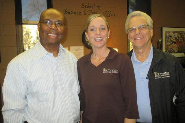 From left: Raphael Onyeaghala, Cori Ann Dahlager, Mike Rich