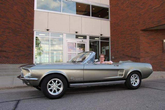 President Connie J. Gores and her 1967 Mustang