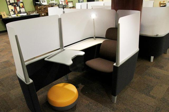 These individualized study areas are new at the McFarland Library