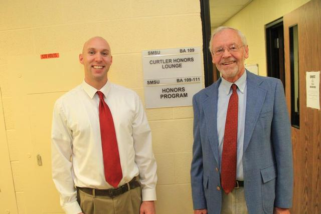 Dr. Hugh Curtler, right, and Dr. Brett Gaul