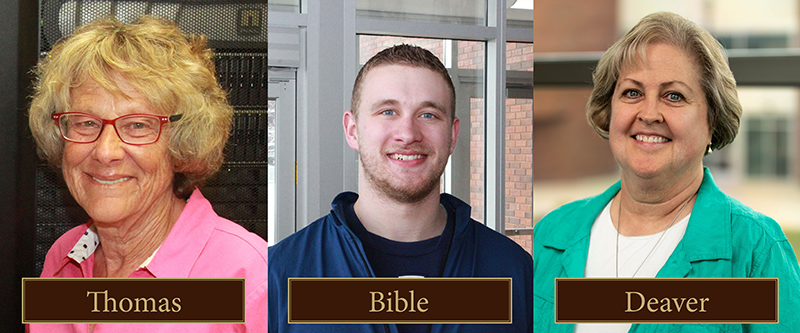 Campus Compact Winners: Bible, Deaver, Thomas