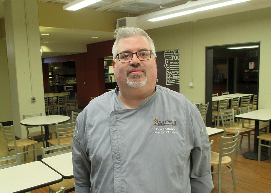 Director of Dining Services Stanwick Appreciates 'Mustang Spirit'