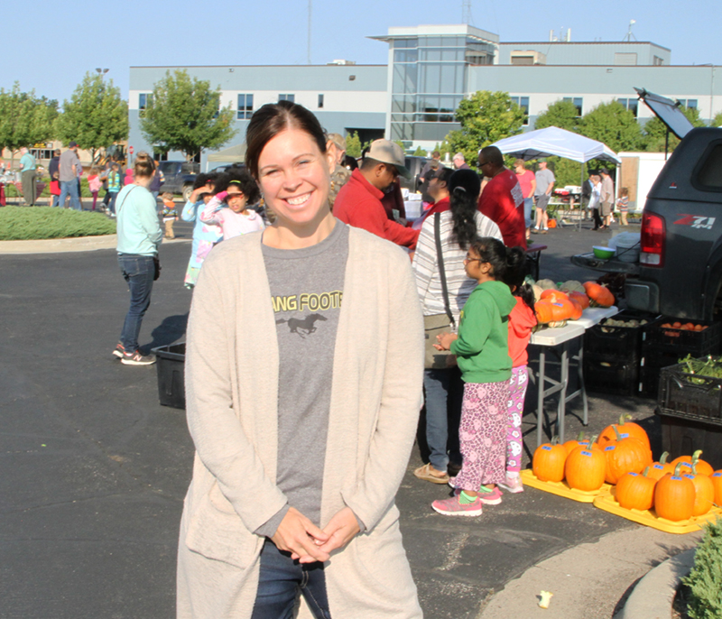 Kim Guenther, at the Marshall Farmer's Market