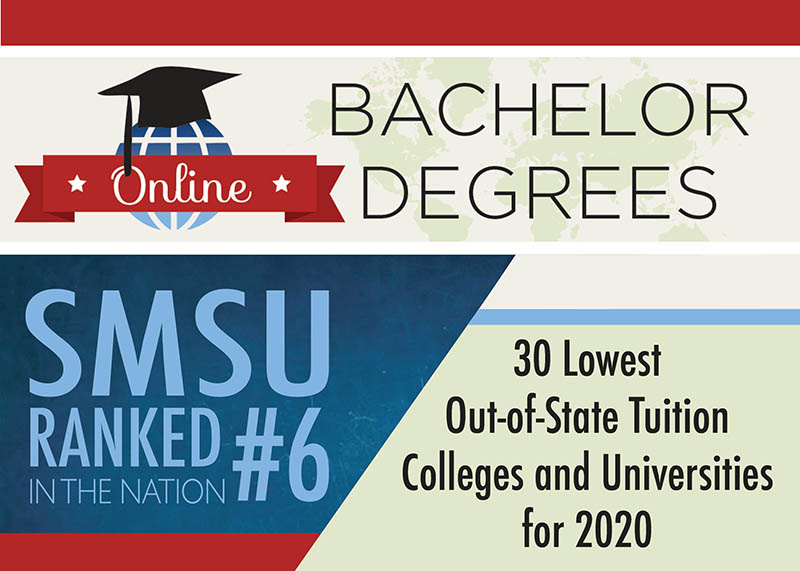 SMSU Ranked 6th Nationally in '30 Lowest  Out-of-State Tuition Colleges and Universities'