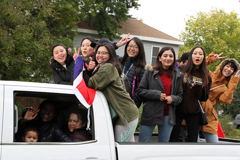 The Homecoming parade will be held at 11 a.m. on Oct. 12