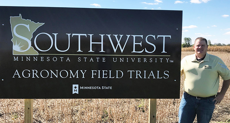 Alumnus Moline, CENTROL Assist With SMSU Research Plot
