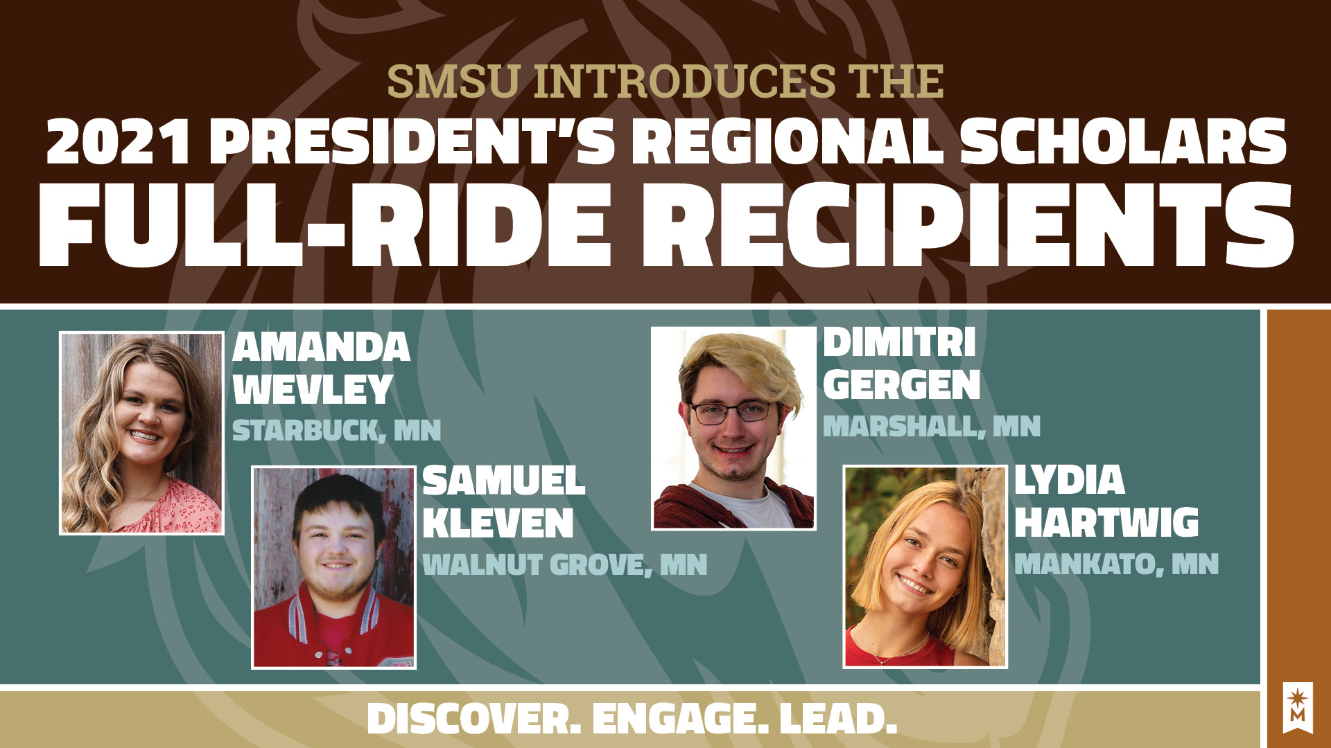 Surprising the 2021 SMSU President's Regional Scholar Full-Ride Recipients!