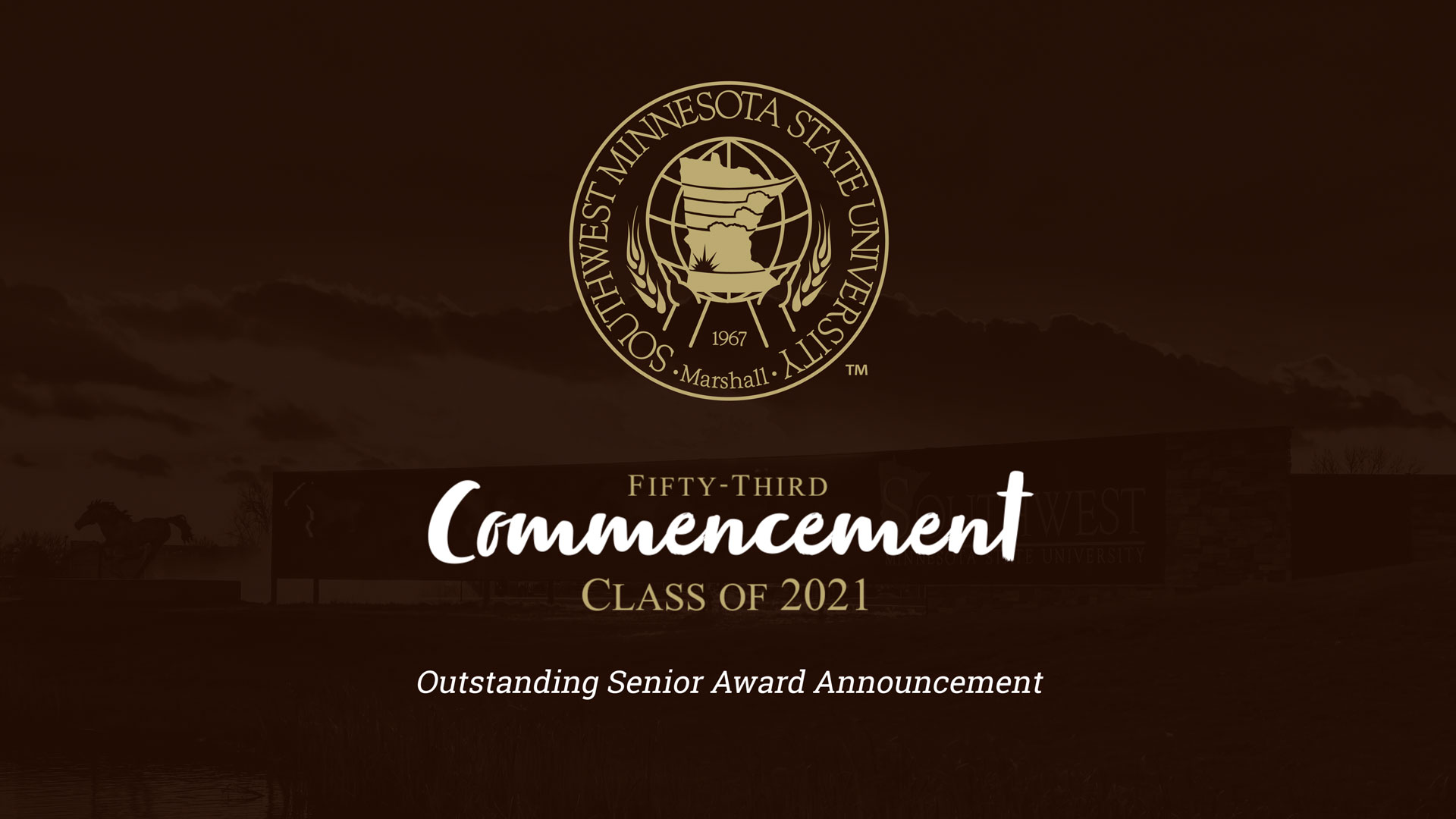 2021 SMSU Outstanding Senior Award Announcement