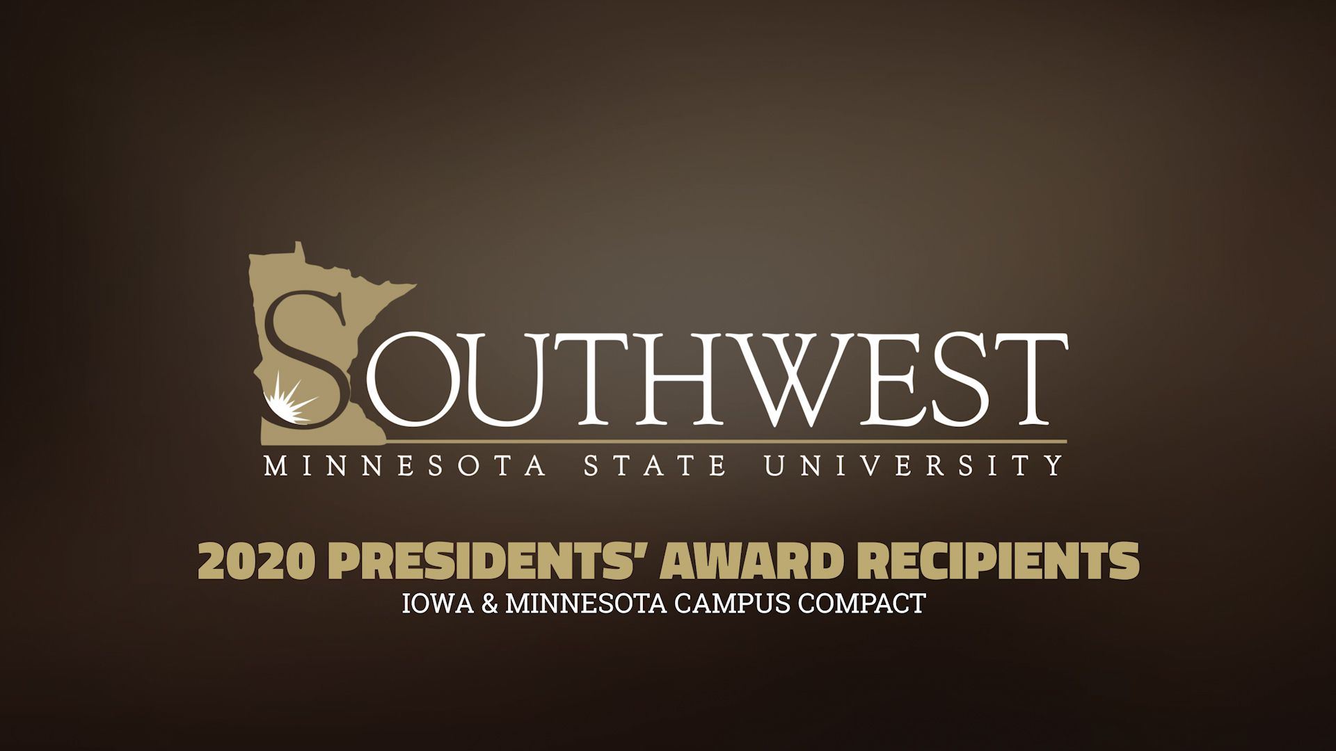 2020 Campus Compact Presidents' Award Recipients